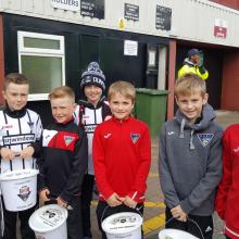 Bucket collection at East End Park