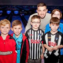Ryan Goodfellow with Young Pars at Bowlplex
