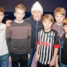 Alex Whittle with Young Pars at Bowlplex
