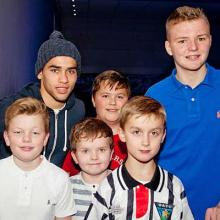 Faissal El Bakhtaoui with Young Pars at Bowlplex
