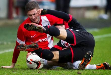 Josh takes a tumble