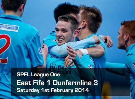 East Fife 1 Dunfermline 3